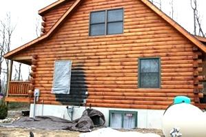 Fire Damaged Log Home Repair | Log Repair And Log Replacement